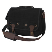Vintage Black Canvas Trailblazer Laptop Bag - View