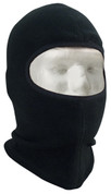 Black Polar Fleece One Hole Balaclava