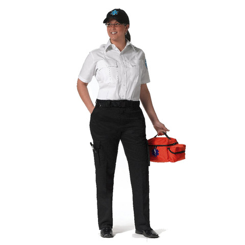 Womens Black Uniform E.M.T. Pants - View