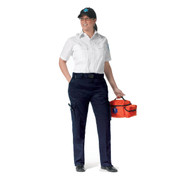 Womens Navy Blue Uniform EMT Pant - View