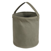 Large Olive Canvas Water Buckets