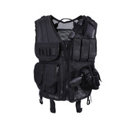 Black Quick Draw Tactical Vest - Front View
