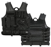 Black Cross Draw Tactical Vest