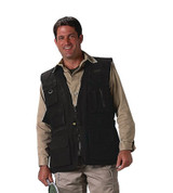 Black Deluxe Safari Outback Vest - View