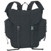 Alpine Canvas Backpack - Black