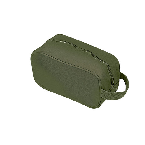 Olive Drab Canvas Travel Kit Bag - View