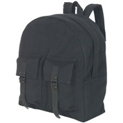 Travelers Canvas Teardrop Daypack - Black