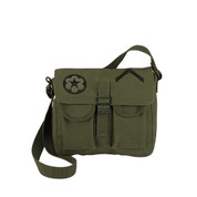 Army Satchel Ammo Bag w/Military Patches - View