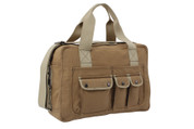 Deluxe Earth Travelers Shoulder Bag - Mocha Brown