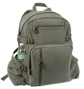 Vintage Canvas Roundabout Daypack - Earth Olive