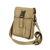 Khaki Travel Portfolio Passport Bag - Left Side View