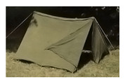 Army Canvas Pup Tent