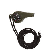 Olive Drab Super Whistle w/Compass