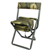 Deluxe Camo Folding Chair w/Pouch - Full View