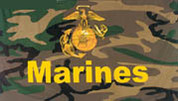 Woodland Camouflage Marines Flags