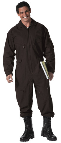 Black Military Air Force Style Flight Suits - View