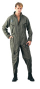Olive Drab Military Air Force Style Flight Suits - View