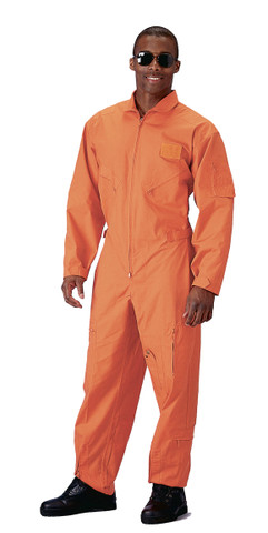 Orange Military Air Force Style Flight Suits - View