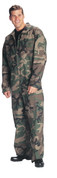 Woodland Camo Military Air Force Style Flight Suit
