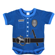 Infant Police Uniform Navy Bodysuit - View