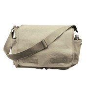 Vintage Khaki Canvas Messenger Bag - View