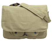 Vintage Khaki Canvas Paratrooper Gear Bag