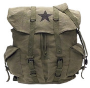 Vintage Army Olive Republic Star Backpack