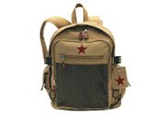 Vintage Khaki Star Republic X Country Backpack - Front View