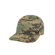 Kids Camo Woodland Digital Cap - View