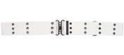 G.I. Style White Canvas Pistol Belt W/Metal Buckle