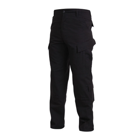 SDU Black Uniform Pants - Left Side View