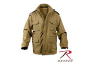 Rothco Coyote Brown Soft Shell Tactical M-65 Field Jacket - Full View