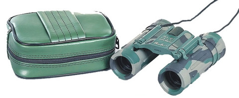 Camouflage Compact 8 X 21MM Binoculars - View