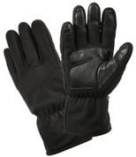 Black Micro Polar Fleece Cold Weather Gloves