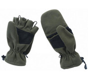 Olive Polar Fleece Fingerless Mitten Combo
