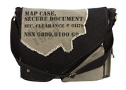 Street Fashion Security Document Bag - Grey/Black