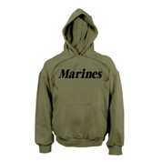Marines Pullover Hooded Sweatshirt - Olive Drab