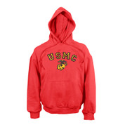Red USMC Pullover Hooded Sweatshirts