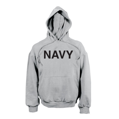 Navy PT Pullover Hooded Sweatshirt - Front View