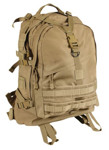 Coyote Brown Large Transport Pack - Front View