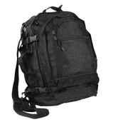 Black Move Out Tactical / Travel Backpack - Front View