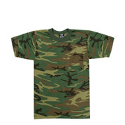 Woodland Camo T Shirt w/Pocket - View