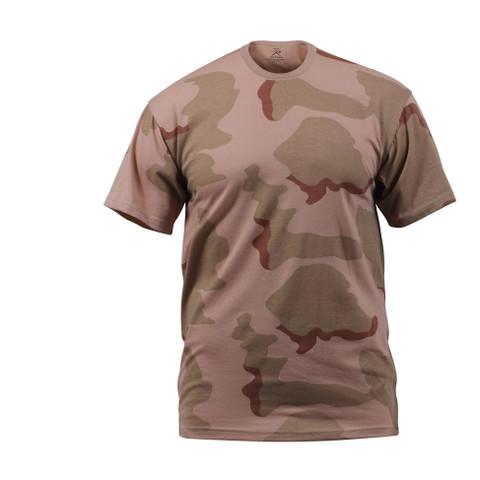 Tri Color Desert Camo T Shirt - Front View