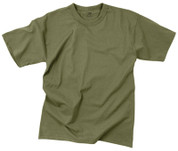 Olive Drab T Shirt - 100% Cotton