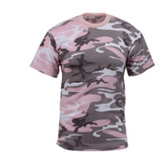 Subdued Pink Camouflage T Shirt - Front View