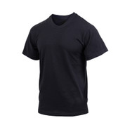 Black Moisture Wicking T Shirts - Front View