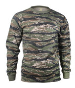 Tiger Stripe Camouflage Long Sleeve T Shirt