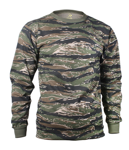 Tiger Stripe Camouflage Long Sleeve T Shirt - View