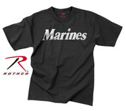 Black Reflective Marine T Shirt