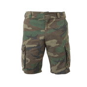 Vintage Cargo Fatigue Shorts - Front View